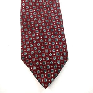 Other - Halston men's silk tie in red and blue colors